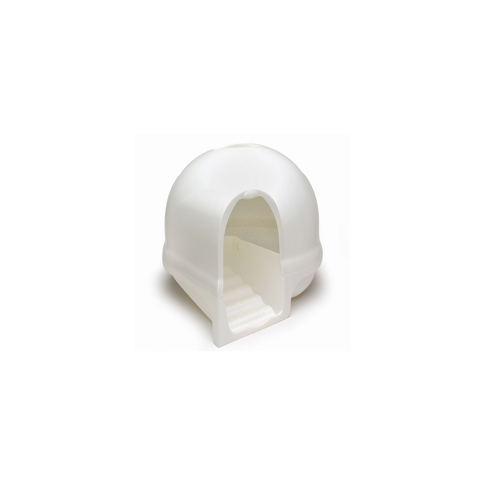 Petmate Dome, Cleanstep Cat Box in Pearl