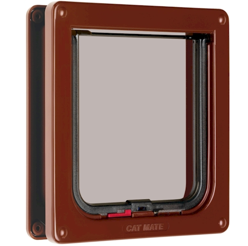 CatMate Standard Locking Cat Flap - 234 Brown - With Door Liner