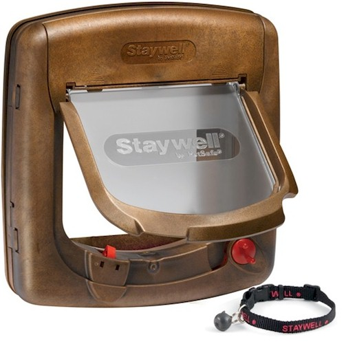 Staywell 420 Deluxe Magnetic Cat Flap - Woodgrain by PetSafe