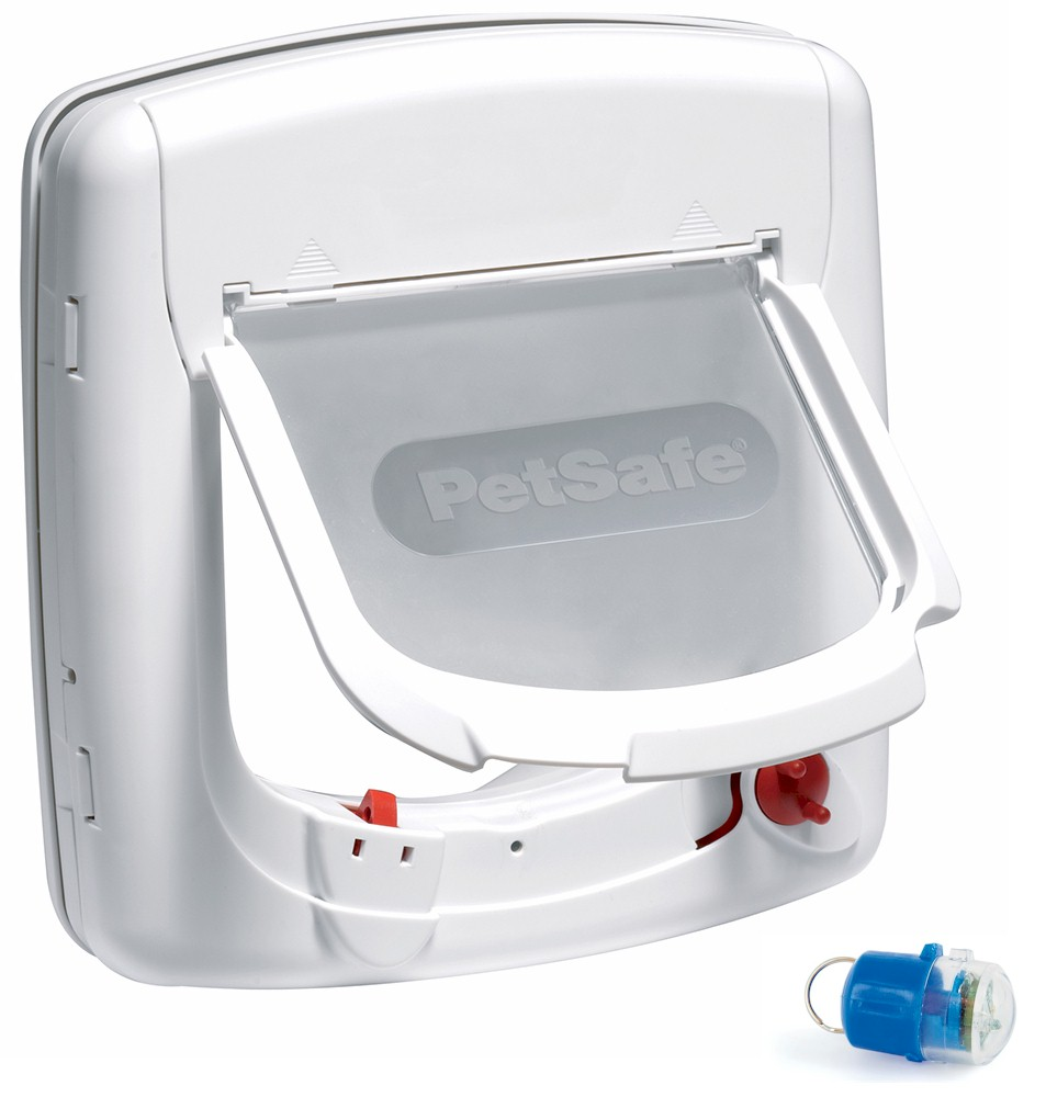 Infra Red Cat Flap White - Staywell 500 - Blue Key by PetSafe