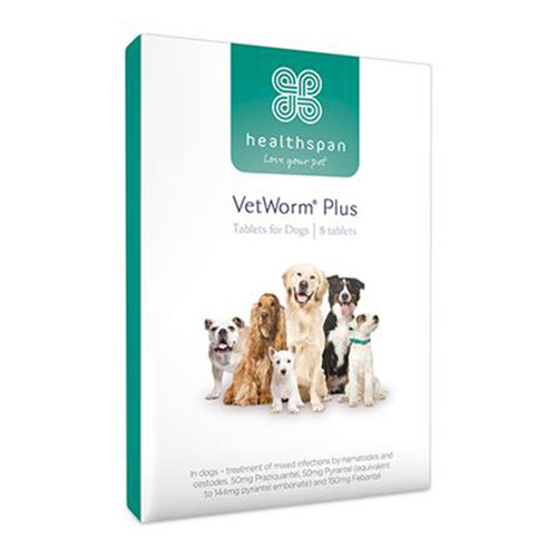 Healthspan VetWorm Plus 2 Tablets
