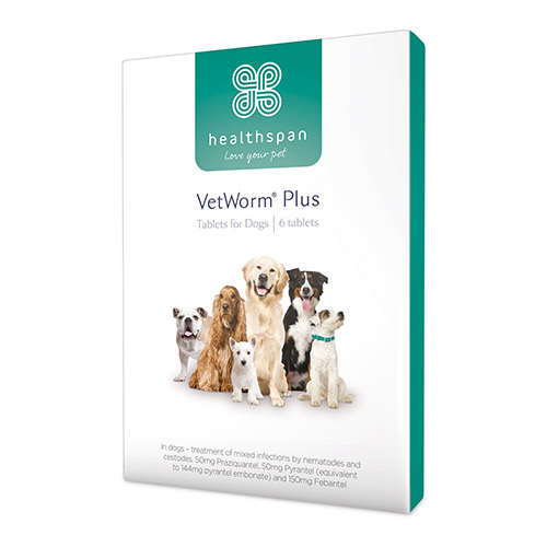 Healthspan VetWorm Plus 6 Tablets