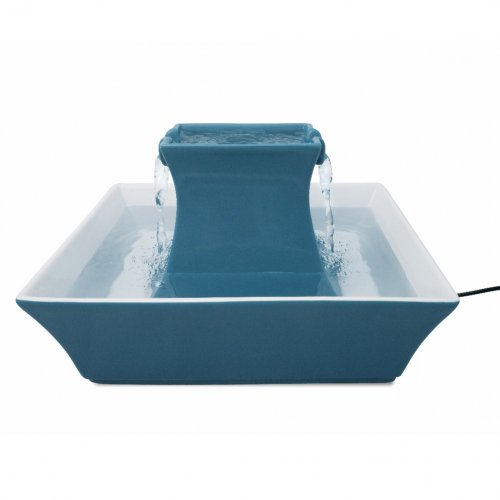 Drinkwell® Pagoda Cat Dog Fountain (Blue)