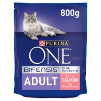 Purina ONE Adult Dry Cat Food Salmon and Wholegrain