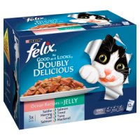 Felix As Good As It Looks Doubly Delicious Cat Food Ocean Recipes