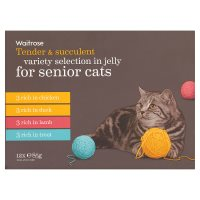Waitrose special recipe senior selection cat food, 12 x 85g pouches