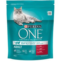 Purina ONE Adult Beef & Whole Grains Dry Cat Food - 800g
