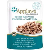 Applaws Pouches Cat Food in Jelly 16 x 70g - Tuna with Mackerel