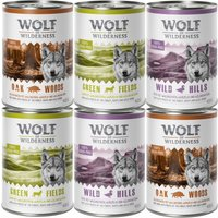 Wolf of Wilderness Classic Adult Mixed Packs - 6 x 300g Tray Mixed Pack (Turkey, Beef, Lamb, Duck)