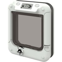 Cat Mate Cat Flap with Timer Control - White Cat Flap