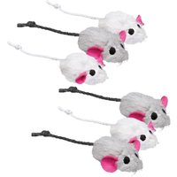 Trixie Toy Plush Mice, 6-pack - 6 Toys