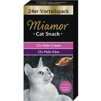 Miamor Cat Snack Malt-Cream & Malt-Cheese Mixed Pack - 24 x 15g