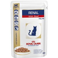 Royal Canin Veterinary Diet Cat - Renal with Beef - 12 x 85g