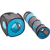 Connect 2-in-1 Cat Tunnel - 1 Set (1 Tunnel + 1 Dice)