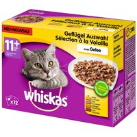 Whiskas 11+ Senior Pouches in Jelly - 48 x 100g Fish Selection