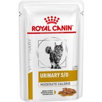 Royal Canin Veterinary Diet Cat - Urinary S/O Moderate Calorie - 12 x 85g