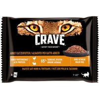 Crave Cat Pouches Trial Pack 4 x 85g - Paté with Chicken & Turkey