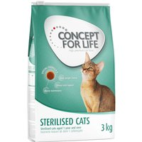 3kg Concept for Life Dry Food + 24 x 85g Wet Food in Gravy - All Cats Mixed Pack