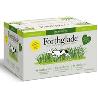 Forthglade Complete Meal Grain Free Adult Dog - Mixed Pack - 12 x 395g