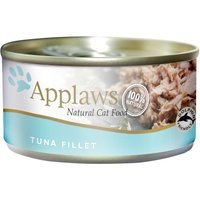 Applaws Cat Food Cans 70g - Tuna / Fish in Broth - Tuna Fillet with Crab 24 x 70g