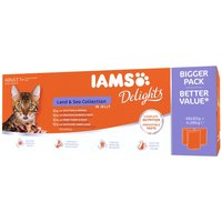 IAMS Delights Adult – Land & Sea Collection - Land & Sea Collection in Gravy (48 x 85g)