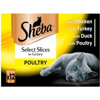 Sheba Pouches Select Slices 12 x 85g - Fish Collection in Gravy