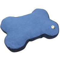 Bone Faux Suede Pet Bed Blue