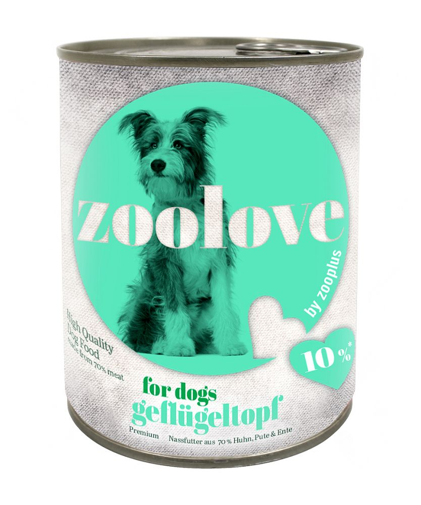 zoolove Three Bird Casserole Wet Dog Food - 6 x 800g