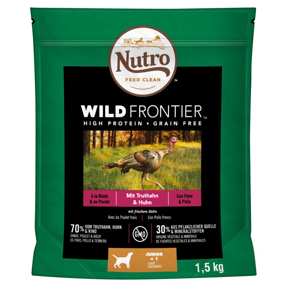 1kg Nutro Wild Frontier Dry Dog Food + 500g Free!* - Medium Adult Turkey & Chicken (1kg + 500g)