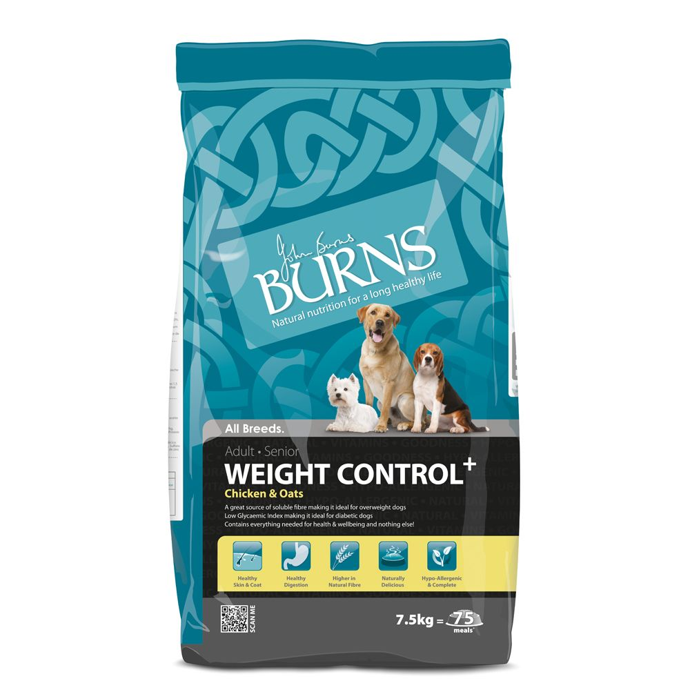 Burns Adult & Senior Weight Control+ - Chicken & Oats - Economy Pack: 2 x 15kg