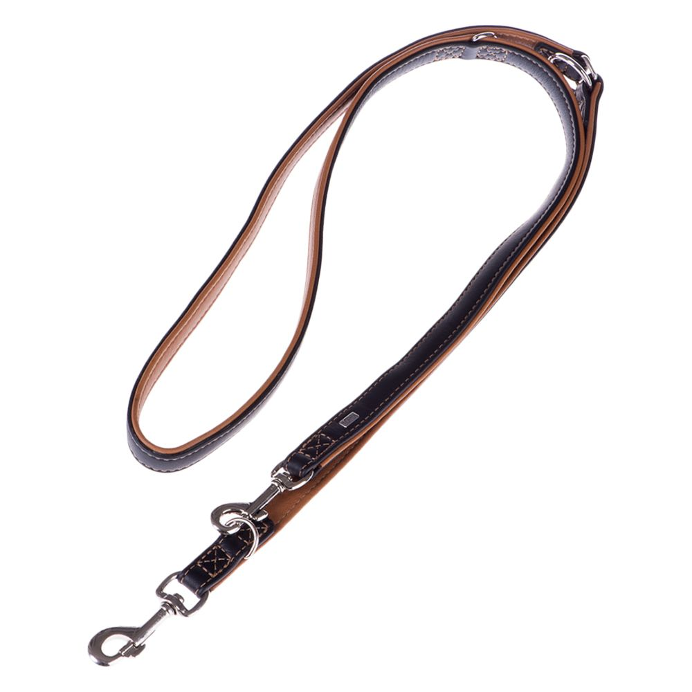 Hunter Canadian Dog Lead - Black/ Cognac - 200cm