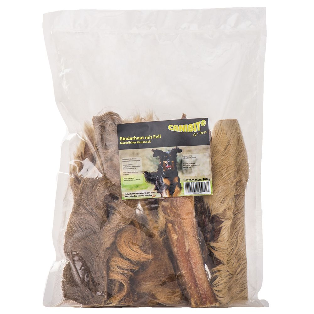 CANIBIT Rawhide with Fur - 500g
