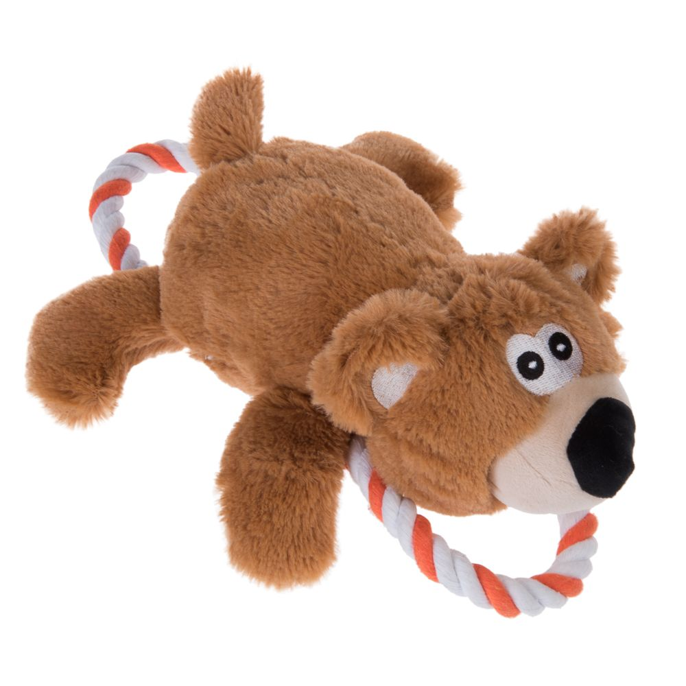 Bear with Rope Dog Toy - 1 Toy