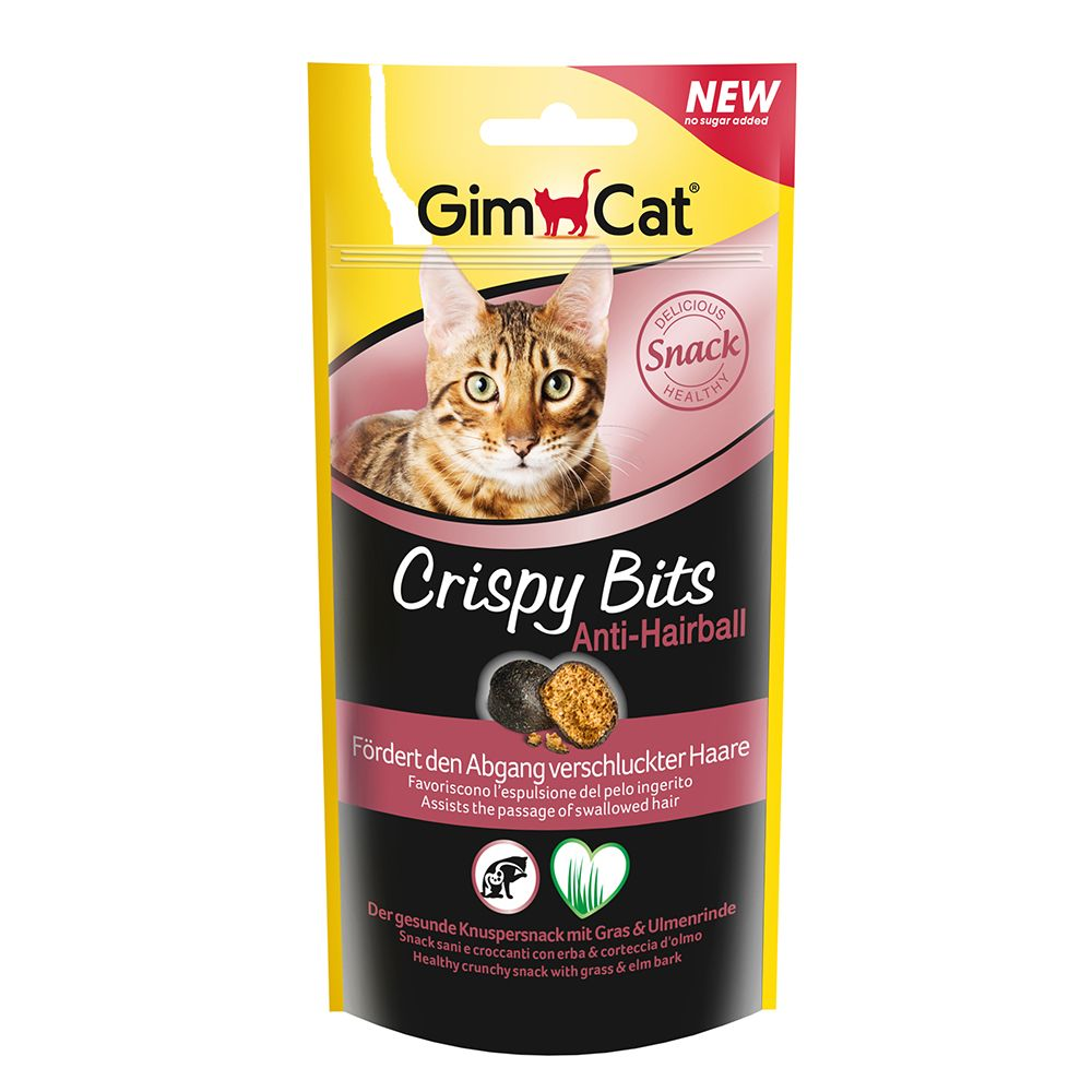 GimCat Crispy Bits Anti-Hairball - Saver Pack: 3 x 40g