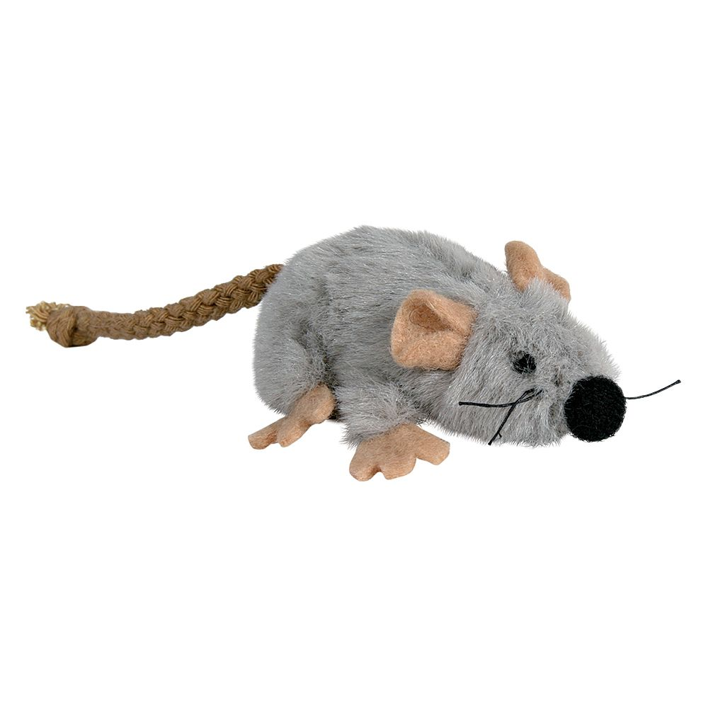 Trixie Cat Toy Plush Mouse with Catnip - 3 Toys