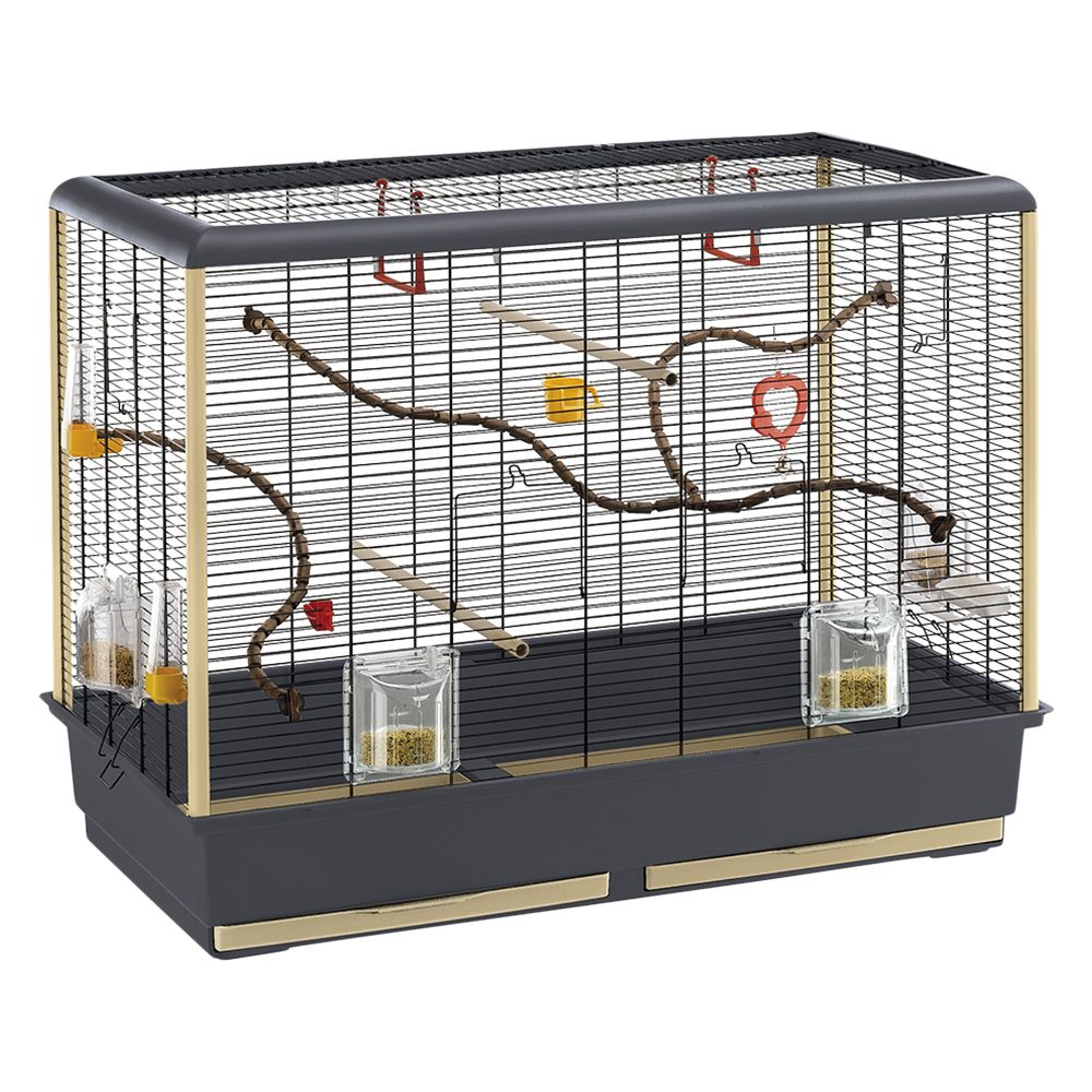 Ferplast Piano 6 Bird Cage - Grey/Black: 87 x 46.5 x 70 cm (L x W x H)