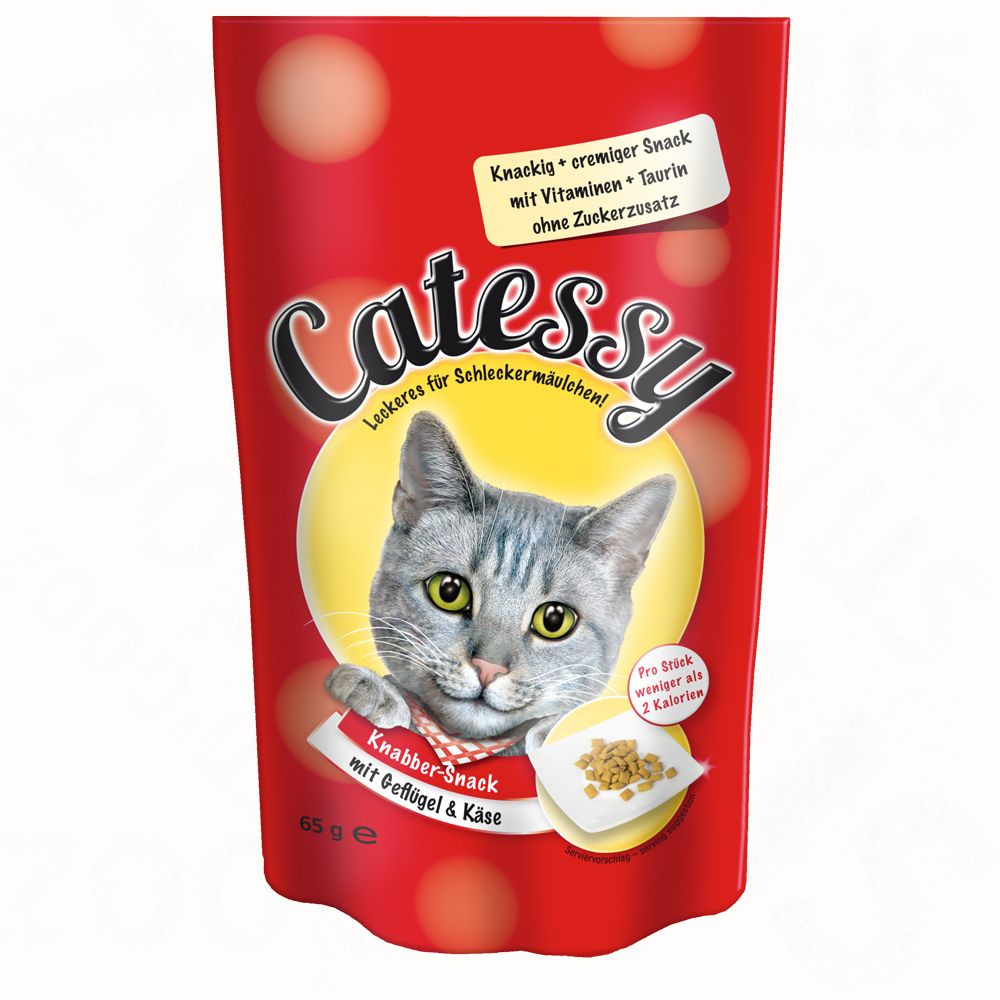 Catessy Crunchy Snacks 65g - with Beef & Malt