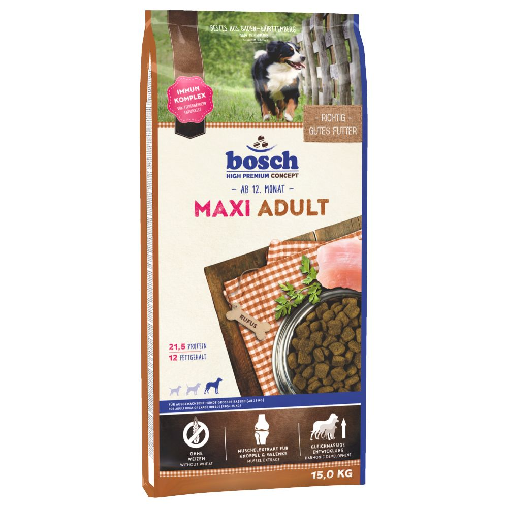 Bosch Maxi Adult Dry Dog Food - Economy Pack: 2 x 15kg