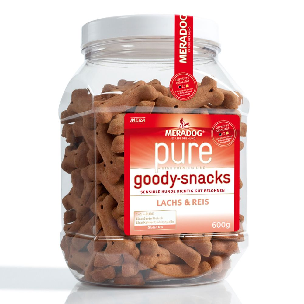 Meradog pure Goody Snacks 600g - Salmon & Rice