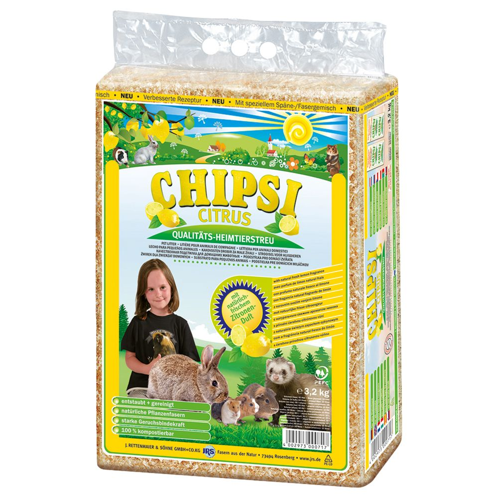 Chipsi Citrus Pet Bedding - Economy Pack: 2 x 3.2kg