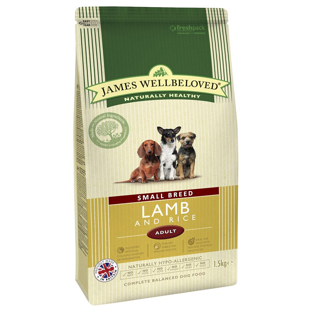 James Wellbeloved Adult Small Breed - Lamb Rice - 1.5kg