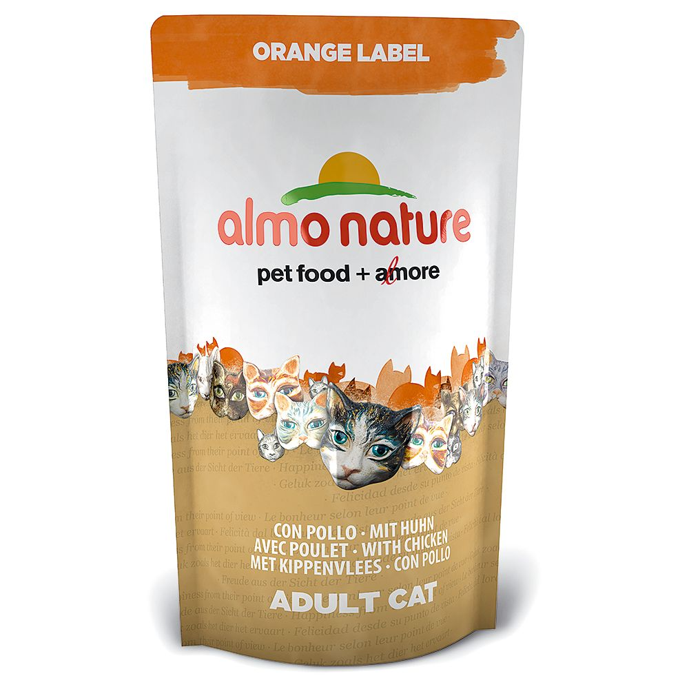 Almo Nature Orange Label Adult Chicken Dry Cat Food - 750g