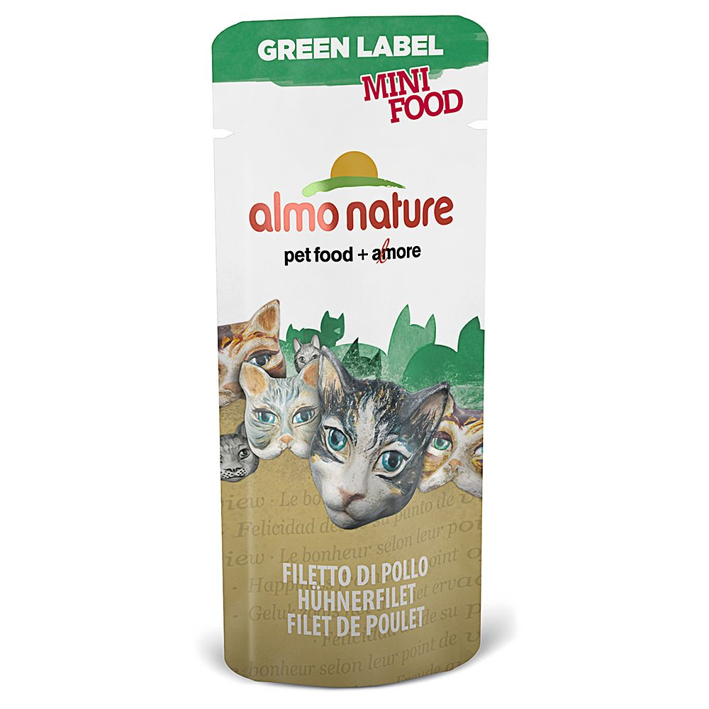 Almo Nature Green Label Mini Food - 5 x 3g - Chicken Fillet