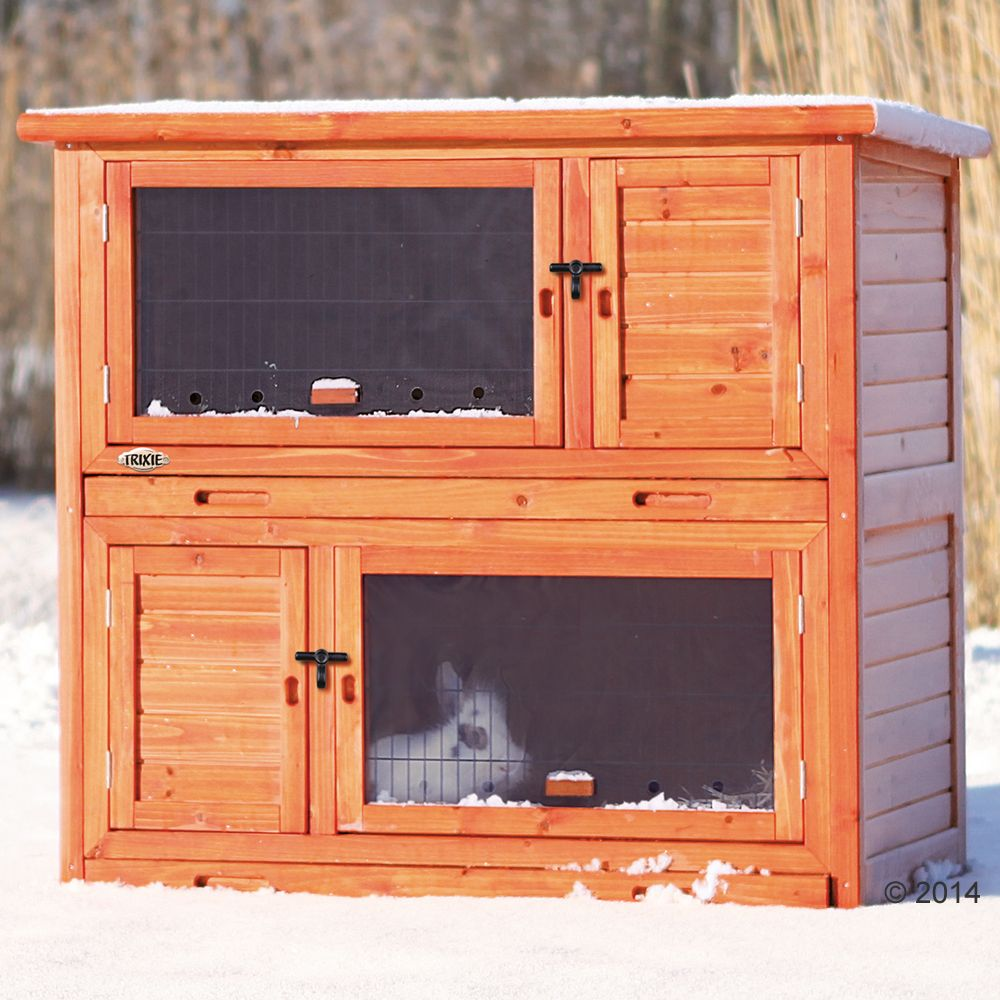 Trixie Natura Small Animal Hutch with Insulation - 116 x 65 x 113 cm (L x W x H)