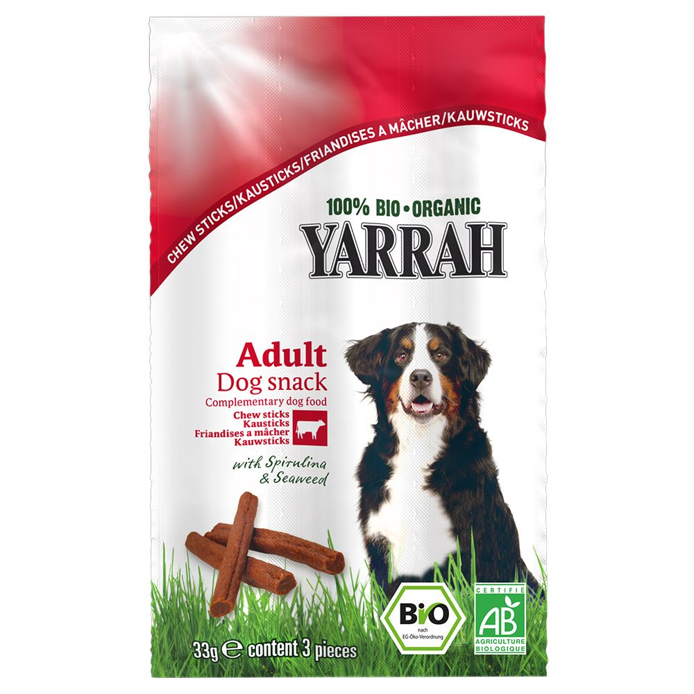 Yarrah Organic Dog Chew Sticks - 33g