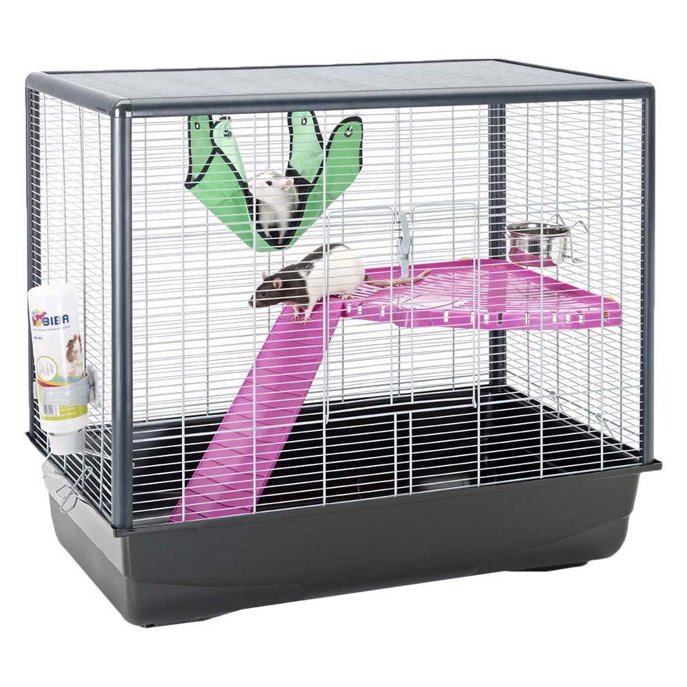 Savic Small Pet Cage Zeno 2 - Black: 80 x 50 x 70 cm (L x W x H)