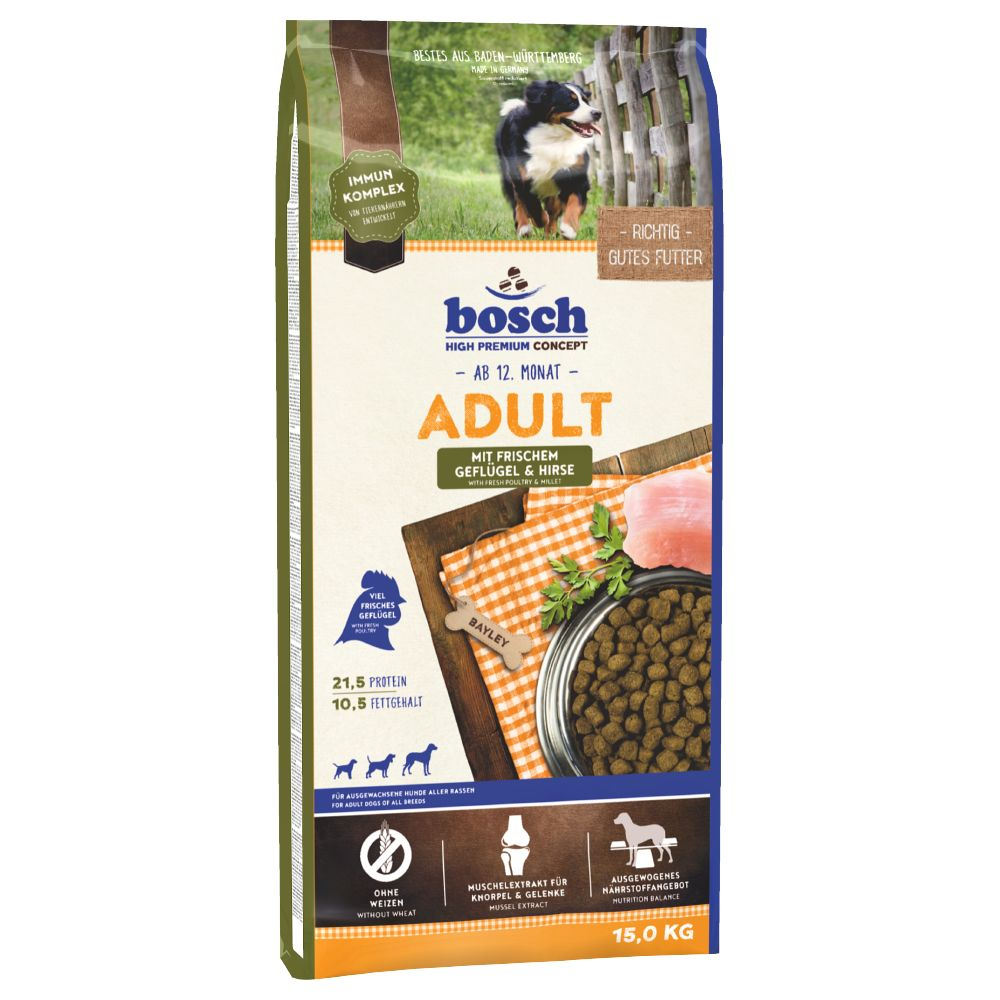 Bosch Adult Poultry & Millet Dry Dog Food - Economy Pack: 2 x 15kg