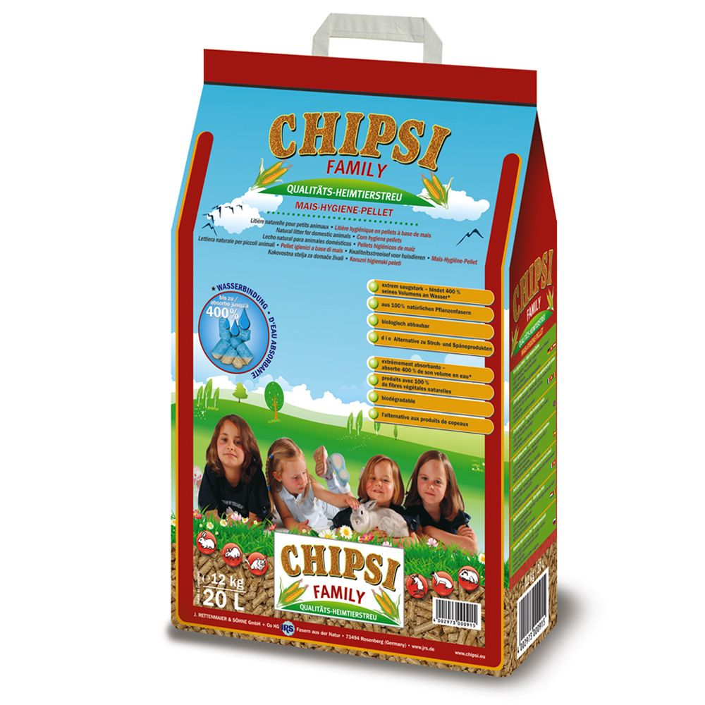 Chipsi Family Corn-Hygiene-Pellets - 20l
