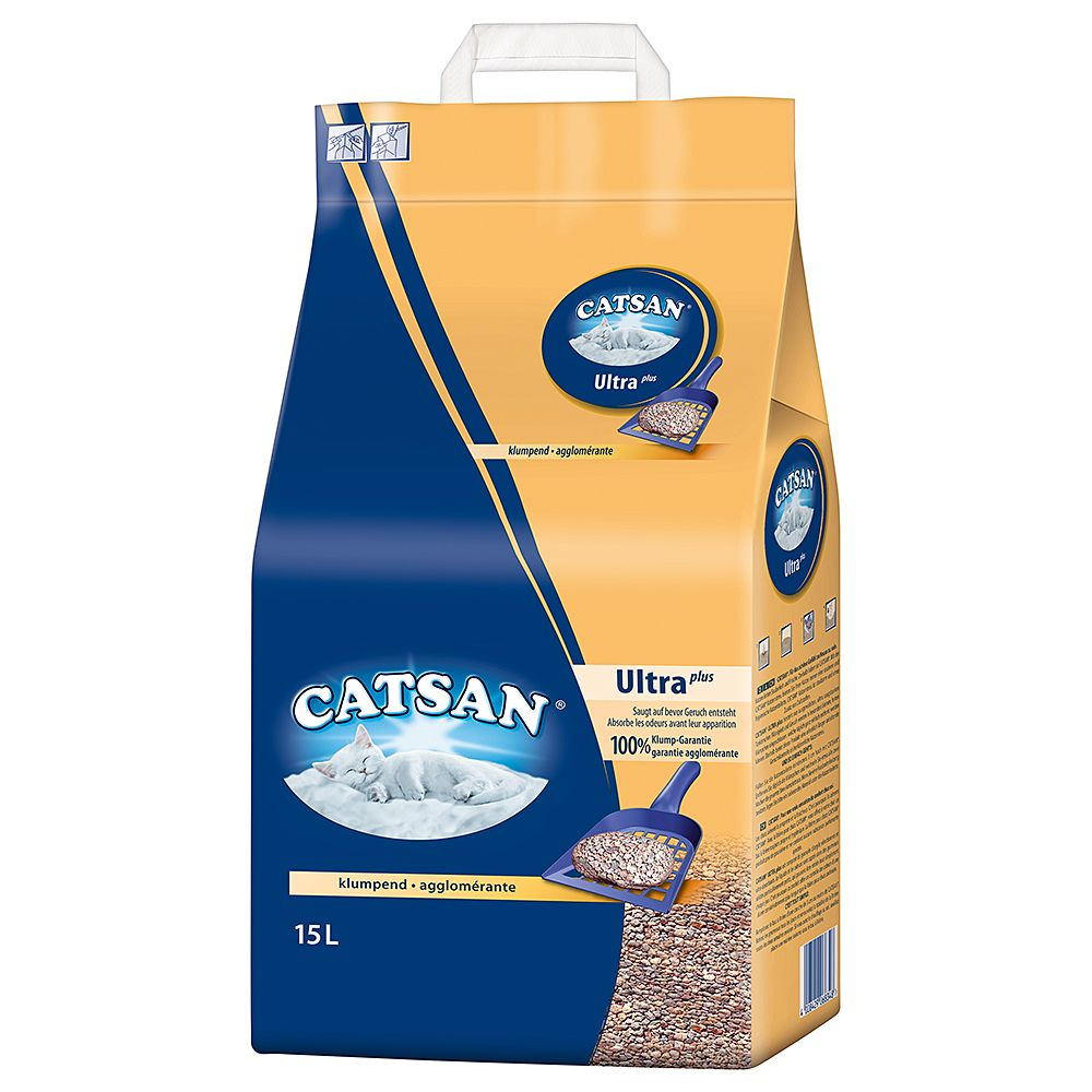 Catsan Ultra Clumping Cat Litter - Economy Pack: 2 x 15l