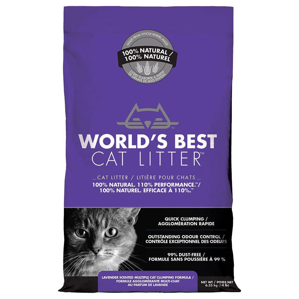 World?s Best Cat Litter Lavender - Economy Pack: 2 x 12.7kg